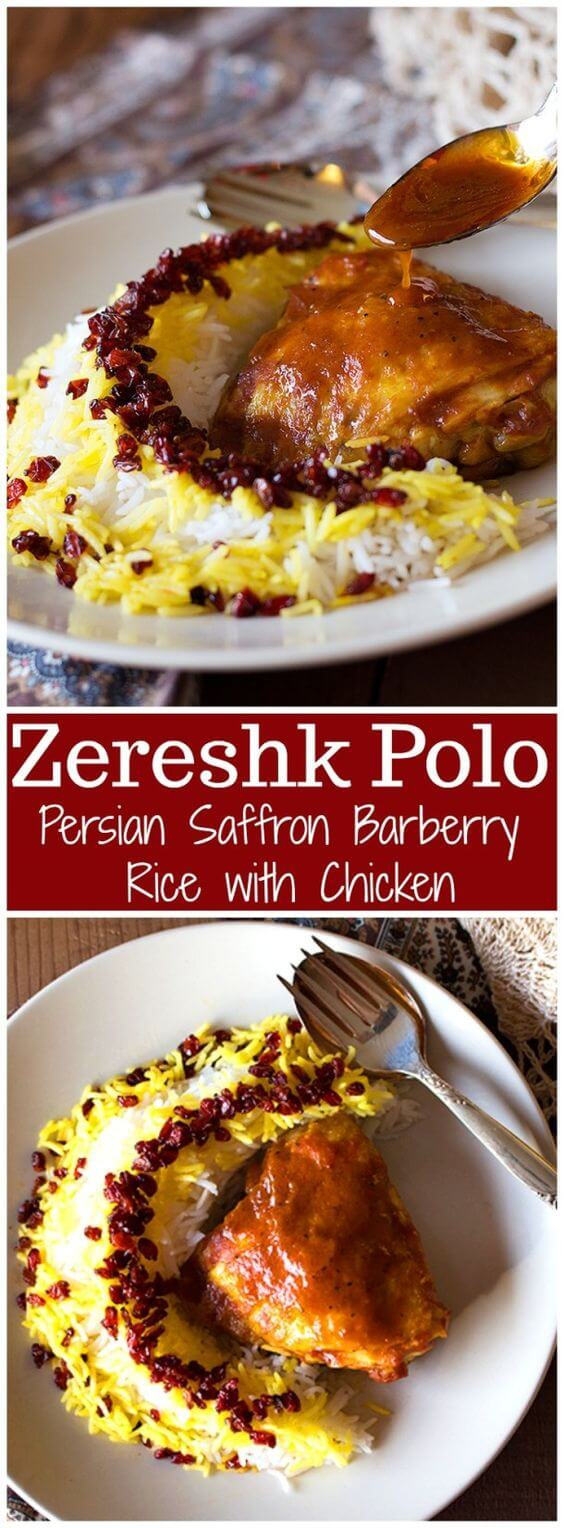 Zereshk Polo Morgh – Persian Barberry Rice with Chicken