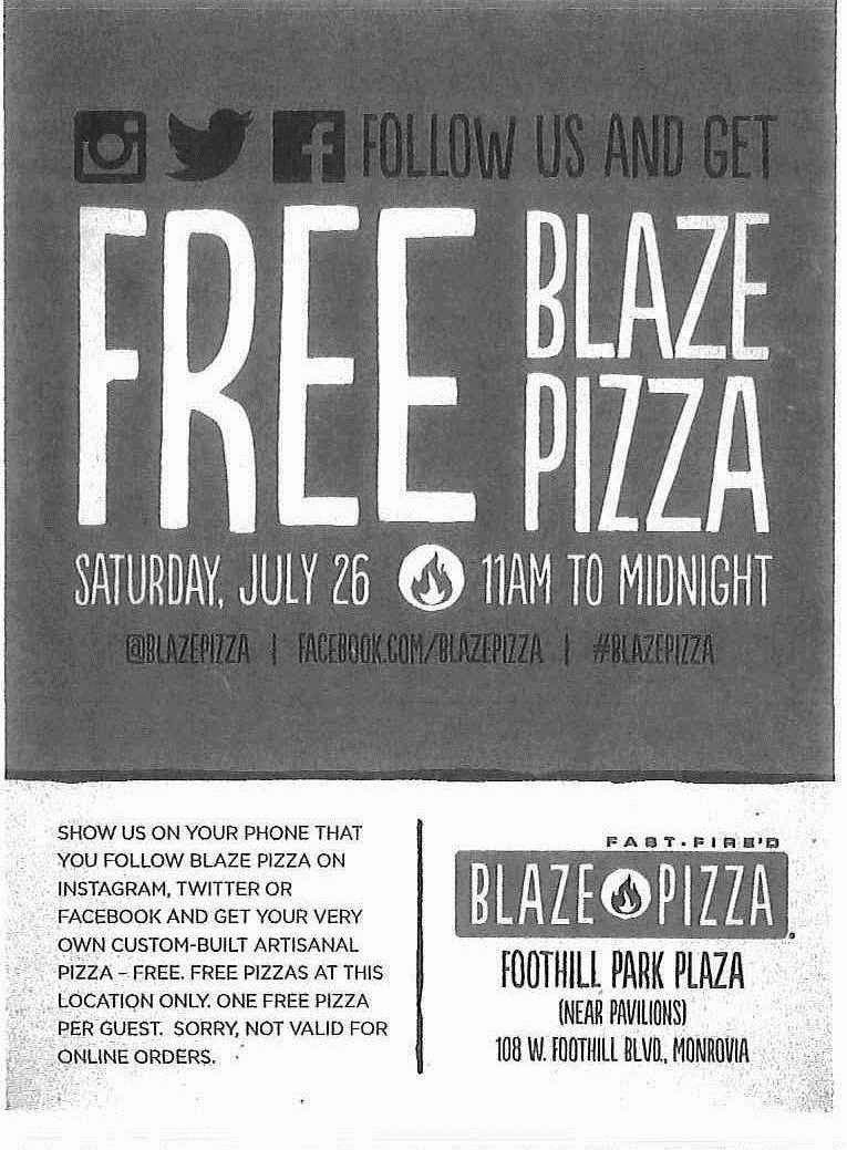 Blaze pizza coupon code