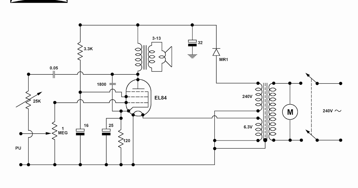 Dansette Workshop: A4 Circuit Diagrams For Major Deluxe