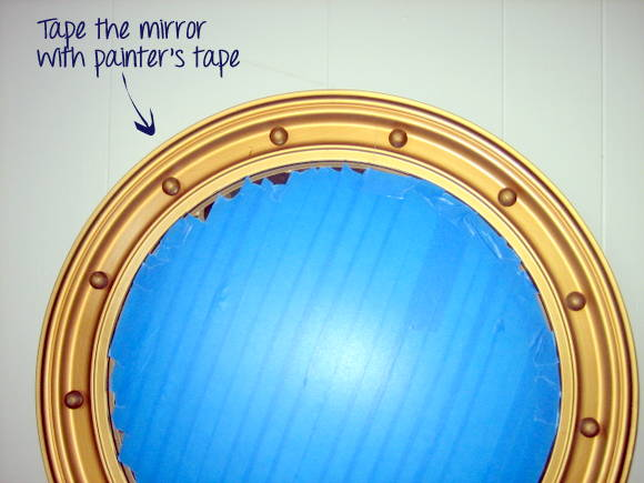 Cover the mirror: Port Hole Mirror | DIY Playbook