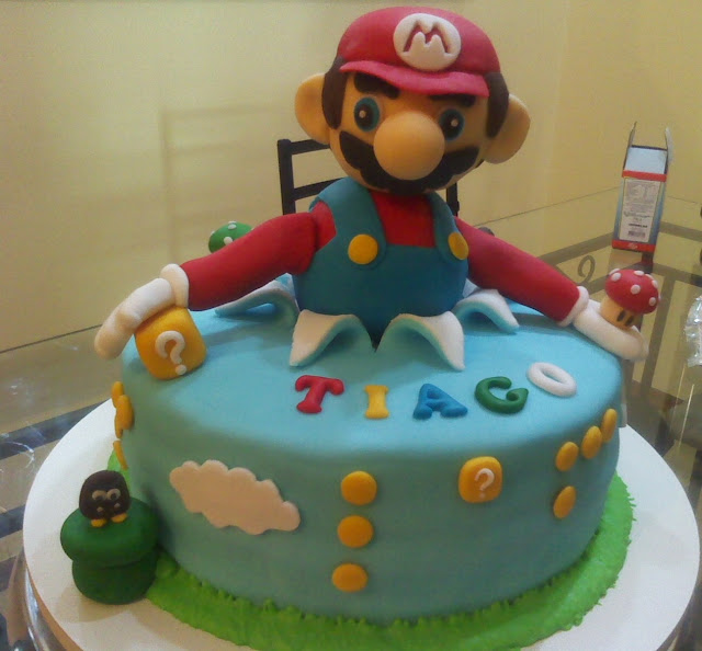 Bolos decorados Super Mario Bros Dona Coli