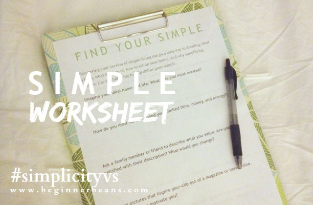 Find Your Simple -- worksheet