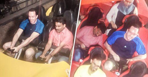 Turista invita a conductor de taxi al parque Ferrari