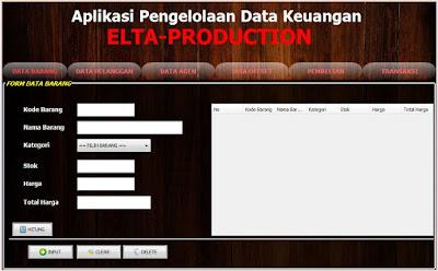 "Cara Membuat Aplikasi Pengelolaan Data Keuangan ""ELTA PRODUCTION"""