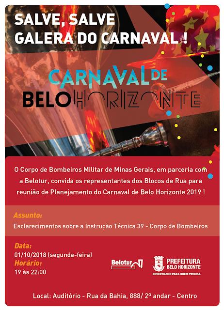 REUNIÃO DIA 01 DE OUTUBRO COM OS BLOCOS DE RUA - CARNAVAL DE BELO HORIZONTE