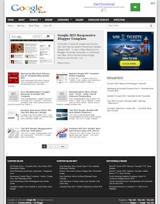 download Google SEO - Template Blog Responsif Terbaru gratis