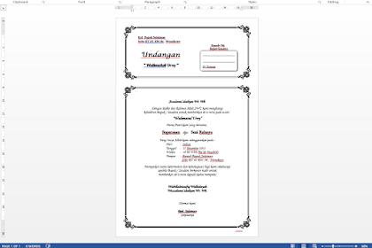 (Bisa di edit) Download 7 Undangan Pernikahan Format .doc