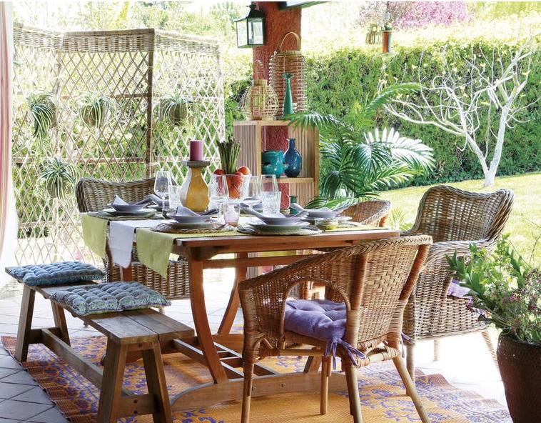Quatro op es para comer ao ar livre decora o e ideias - Biombos para exteriores ...