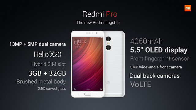 For those of you who want to immediately have a Smartphone Xiaomi Redmi Pro 32 GB 4G Phablet. Its Specifications are Android 6.0, 5.5 inch, 2.5D Arc Screen, Helio X20 Deca Core 1.39 GHz, 3GB RAM, Fingerprint Scanner 13.0MP Dual Rear Camera, Bluetooth 4.2. This is a good time to buy it. Because GearBest, as a global online store offer special coupons with a super cheap price.