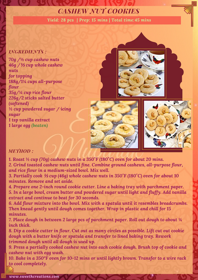 CASHEW NUT COOKIES RECIPE