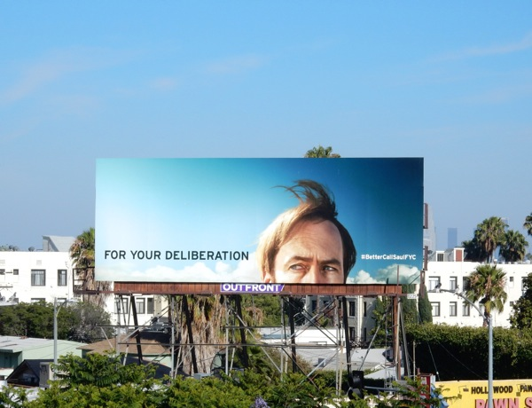 Better Call Saul Deliberation Emmy 2015 billboard