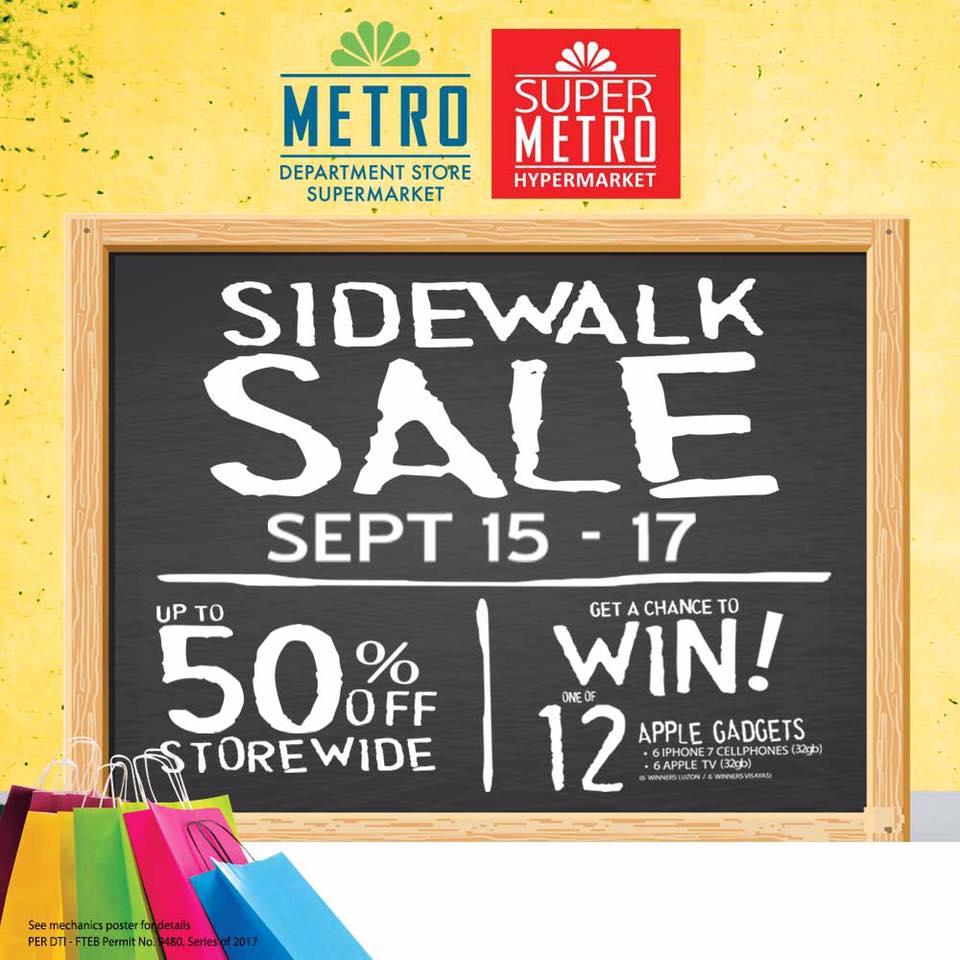 Manila Shopper Metro Stores Sidewalk Sale Sept 2017