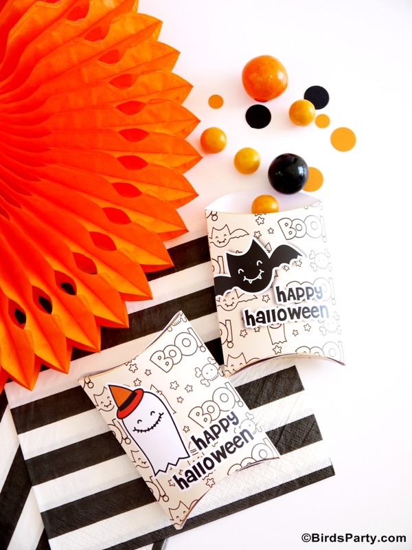 Halloween Party Ideas, Free Printables, Recipes & Crafts - via BirdsParty.com