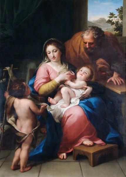 Anton Raphael Mengs Святое семейство с младенцем Святым Иоанном