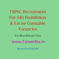 TSPSC Recruitment For 340 Prohibition & Excise Constable Vacancies