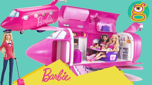 Avión de Barbie jet privado Barbie glam vacation jet Barbie airplane - Jueguetes Barbie toys