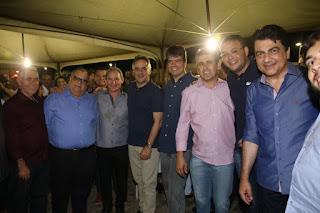 Vice-prefeito de Picuí Lucas Marques se encontra com Luciano Cartaxo em Pedra Lavrada e tratam de política.