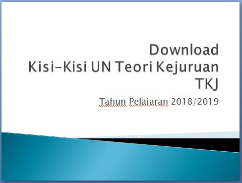 Download Kisi-kisi Ujian Teori Kejuruan TKJ
