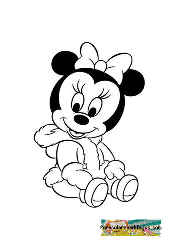 Moderno Bebé Mickey Mouse Para Colorear Friso - Dibujos Para ...