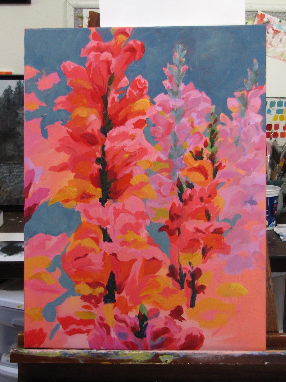 Karen Ilari Painting: Painting Large Loose Florals