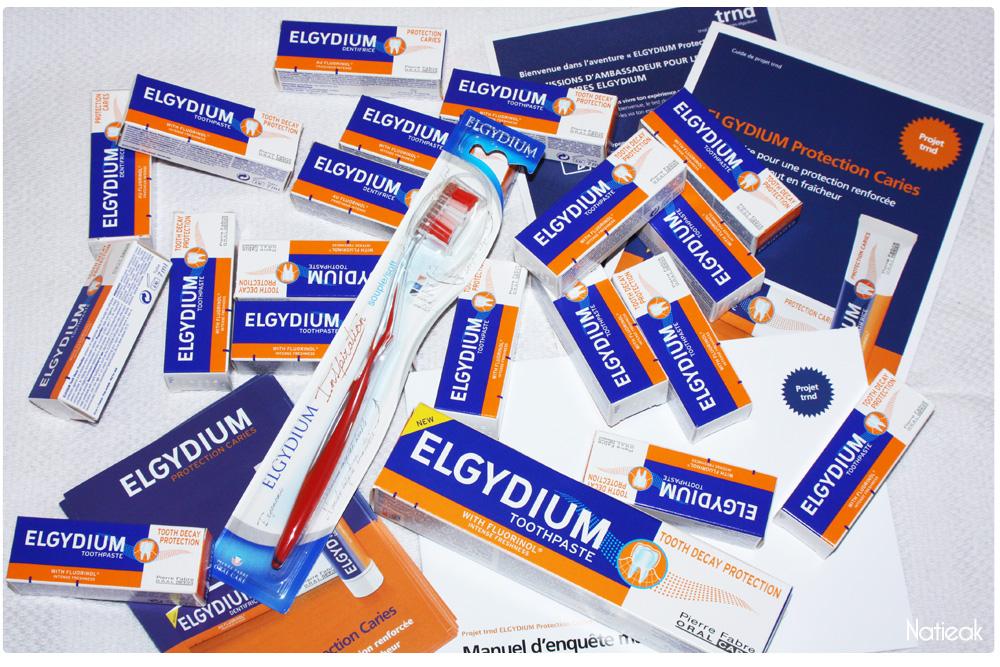 dentifrice Elgydium Protection caries et la brosse à dent Inspiration