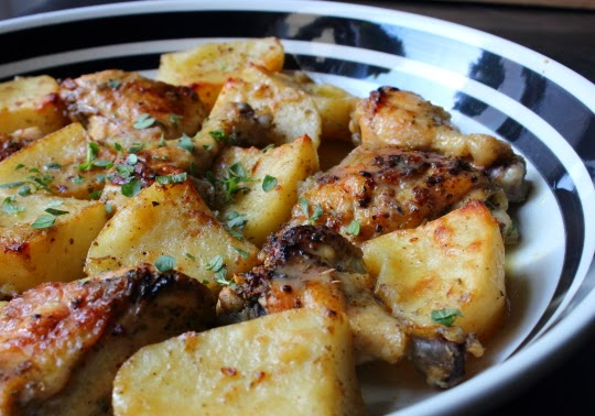 Greek Lemon Chicken and Potatoes – Both Homers Would Love This