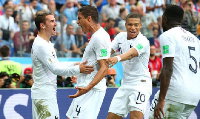 Uruguay vs France [0:2]; FIFA World Cup 2018 quarter-finals results, Griezmann inspires France past punch-less Uruguay