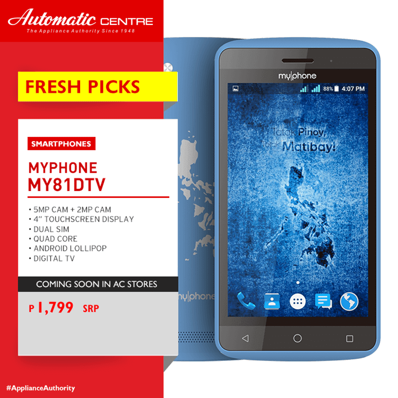 MyPhone My81 DTV, the most affordable phone with DTV