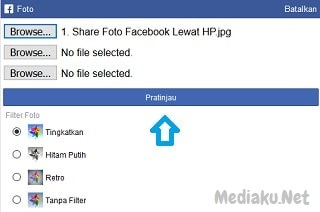 Share (Upload) Foto Di Facebook Lewat HP