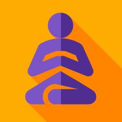 meditation flat icon
