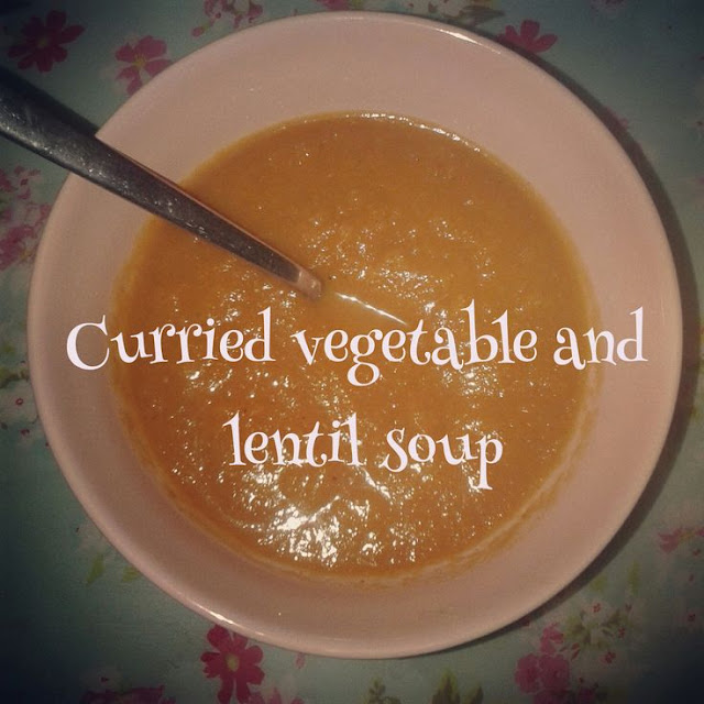 Curried vegetable and lentil soup