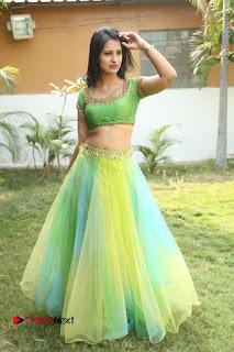 Actress Nikitha Bisht Stills in Lehenga Choli at Pochampally Ikat Art Mela Launch  0372.JPG