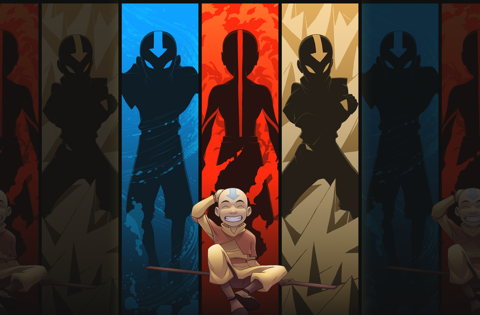 Avatar Aang b6 - Wallpapers