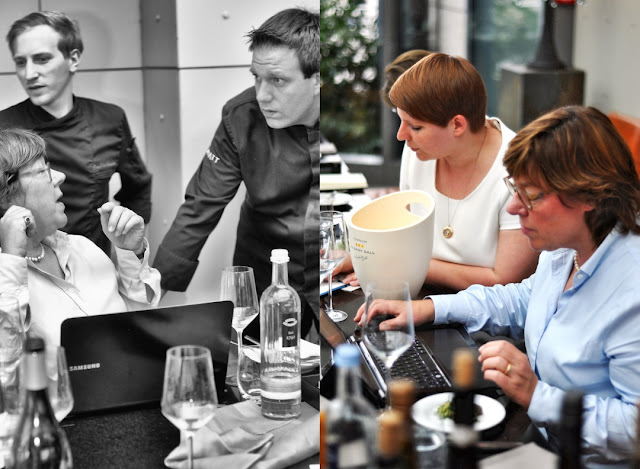 Sommeliere Christina Fischer, Hyatt-Küchendirektor Thomas Hirt und Küchenchef Sven-Ole Hastreiter