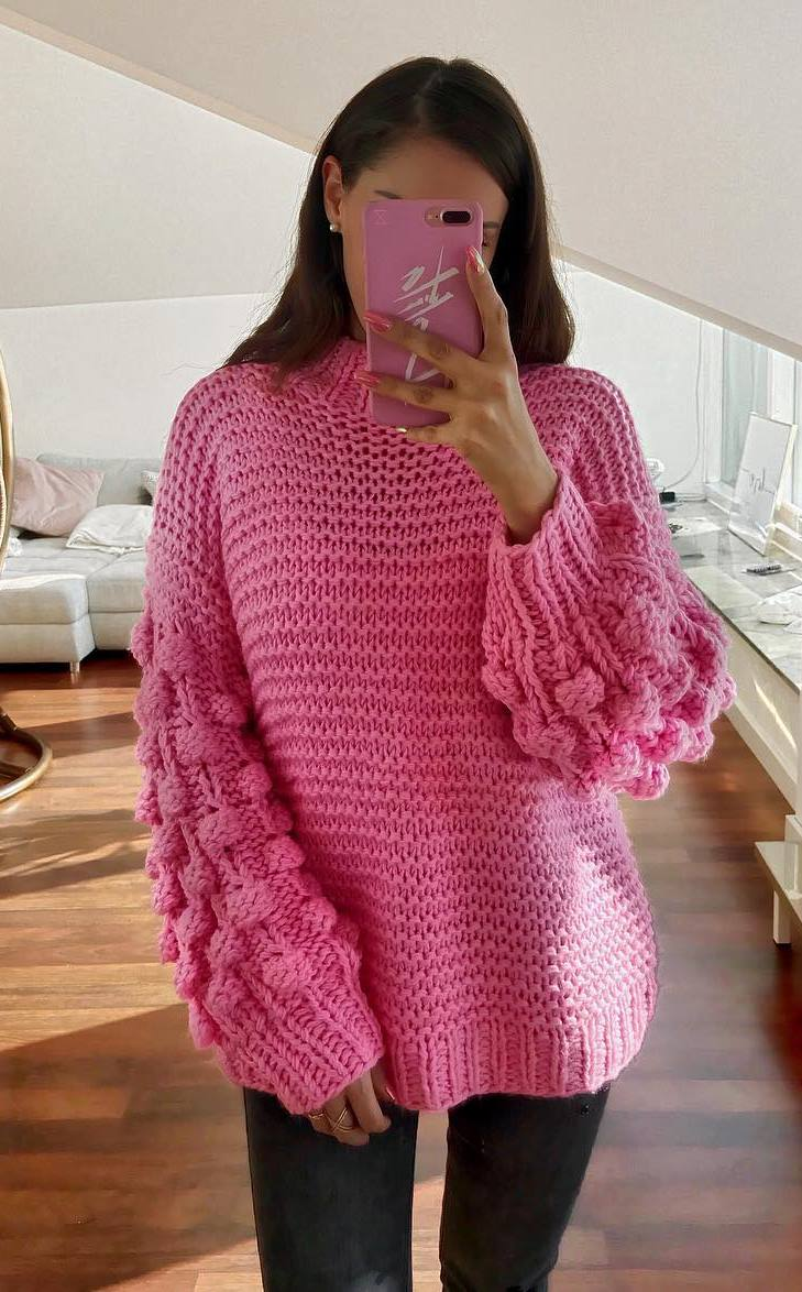 outfit of the day | pink oversized sweater and skinny jeans