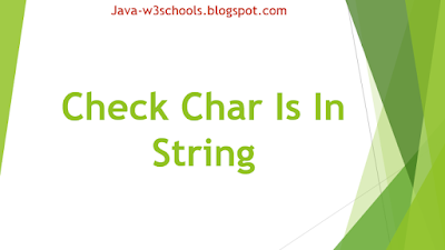 Check Char Is In String