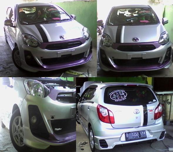 Modifikasi Toyota Agya E M/T Putih - ZIENERN CORP