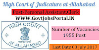 Allahabad High Court Recruitment 2017– 1955 Personal Assistant, Clerk, Peon