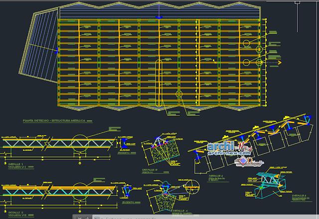 Multipurpose auditorium full project in AutoCAD