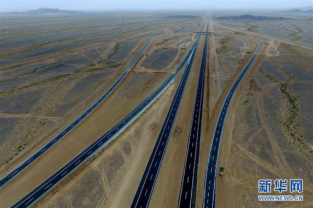 Part of world's longest cross-desert highway ready for service