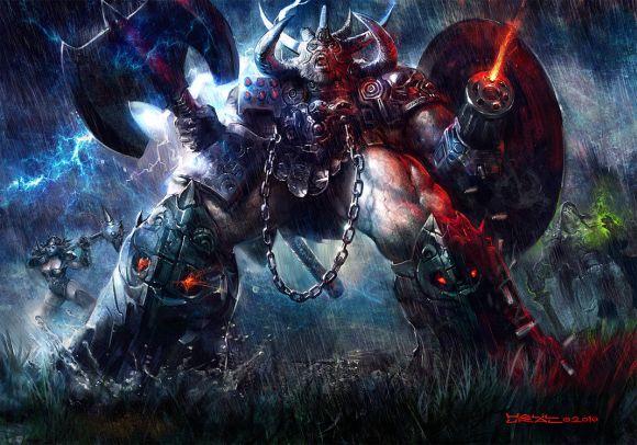 Halil Ural mrdream deviantart ilustrações fantasia arte conceitual Rei das batalhas