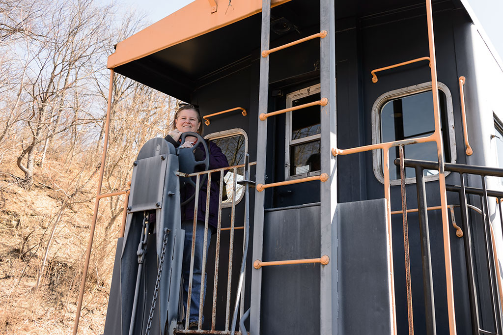 Climb aboard a caboose at the Meyersdale Station