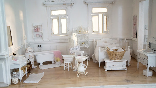 shabby puppenhaus. Black Bedroom Furniture Sets. Home Design Ideas