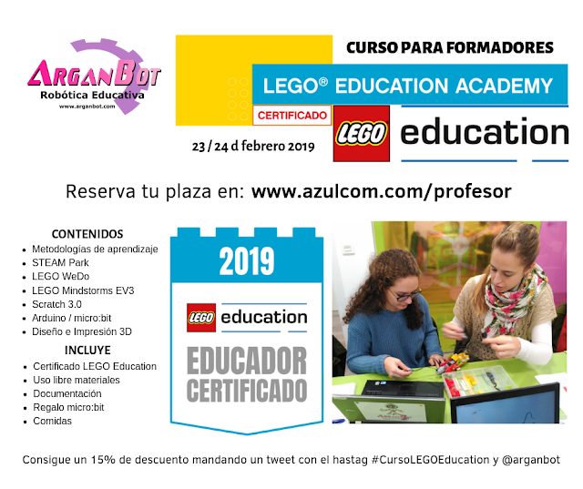 Curso de Formador Certificado LEGO Education y otras tecnologías