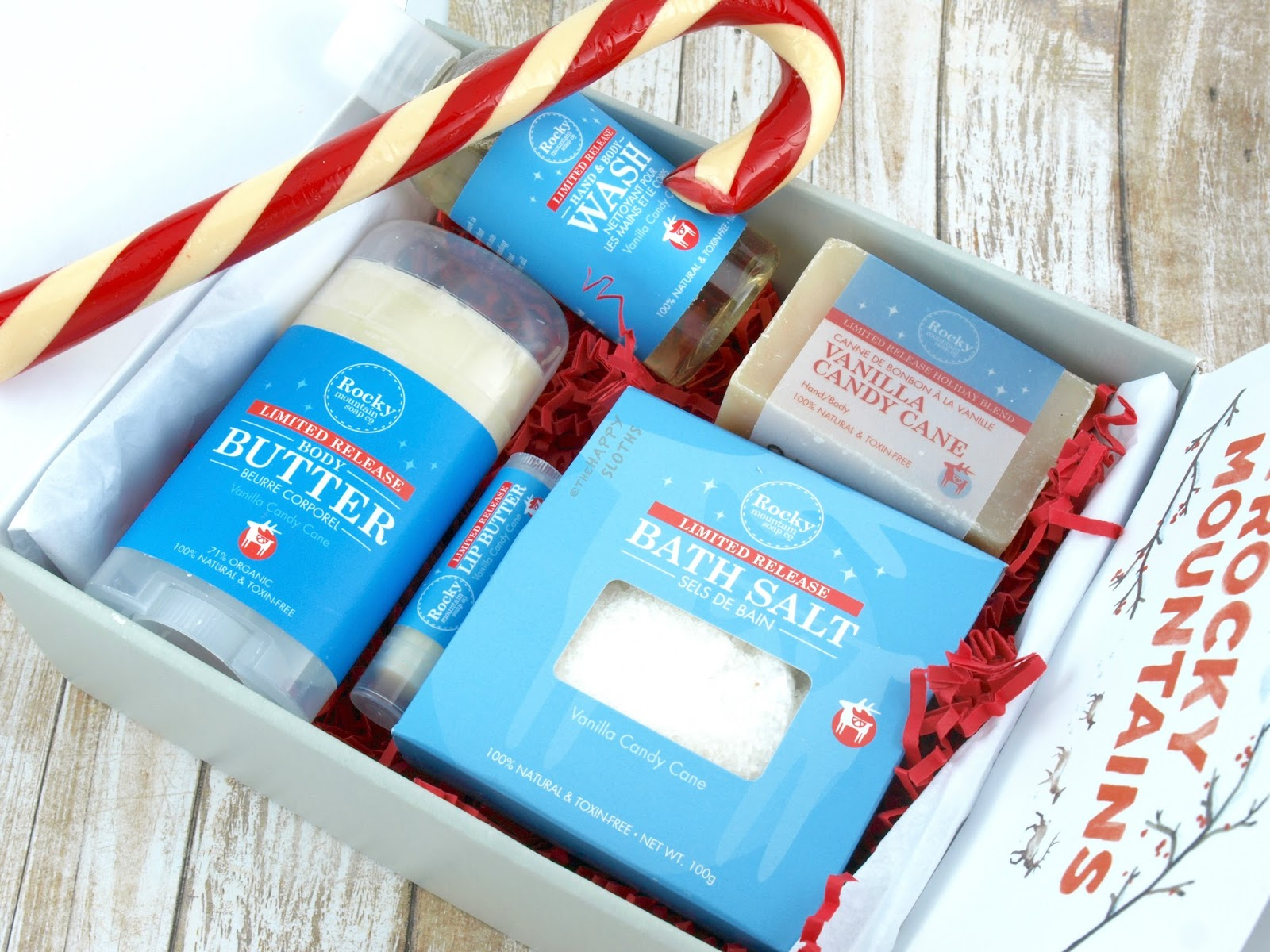 Rocky Mountain Soap Co Holiday 2016 | Vanilla Candy Cane Gift Set