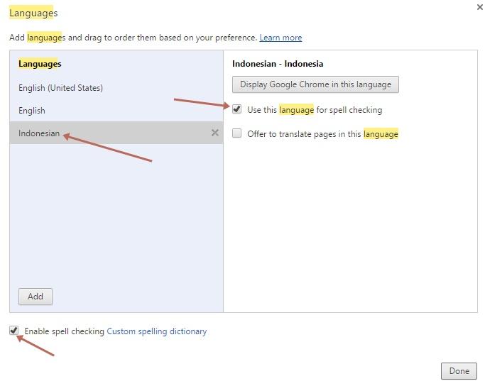 Menggunakan Spell Checking Bahasa Indonesia di Google Chrome
