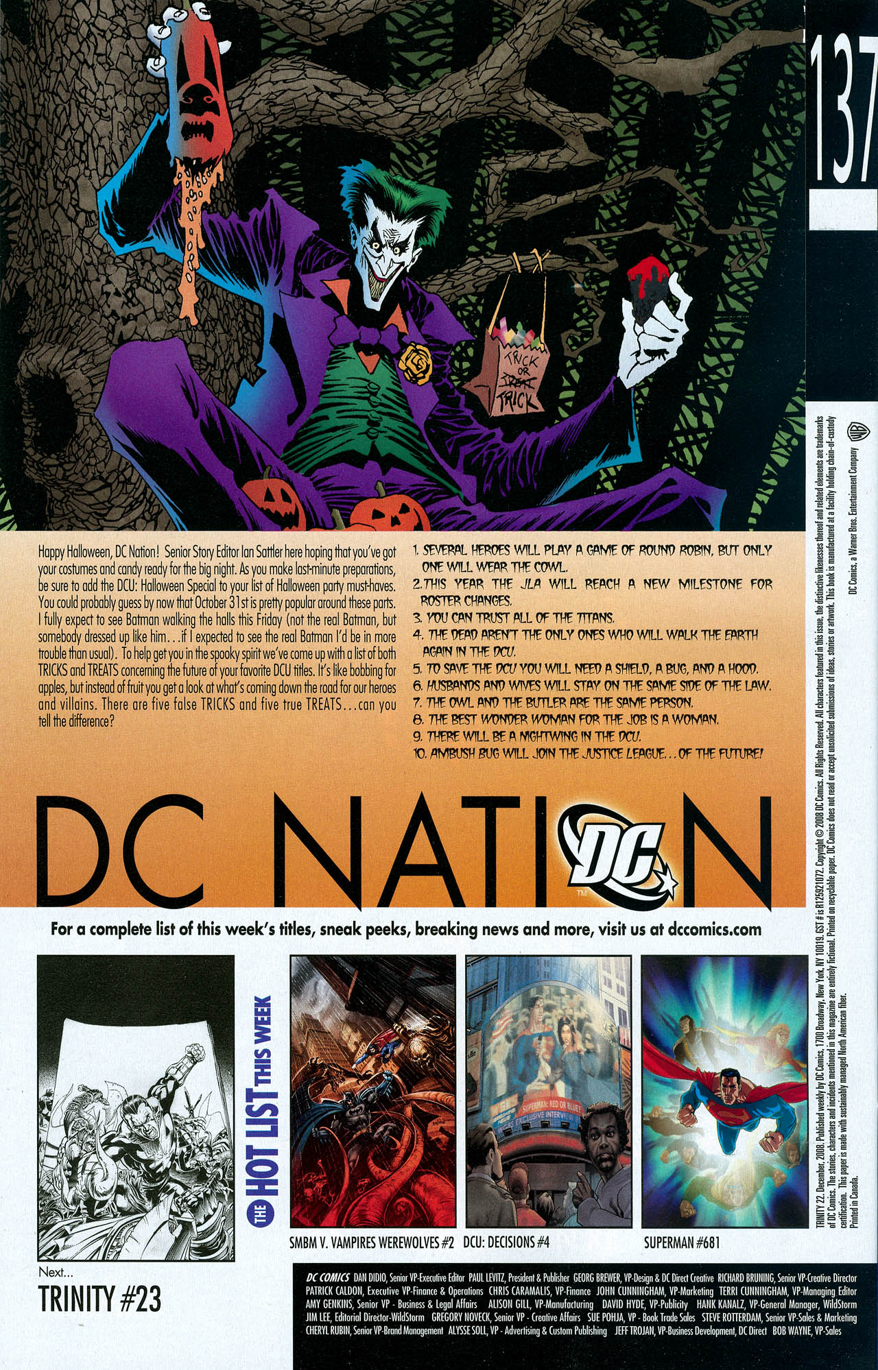 Read online Trinity (2008) comic -  Issue #22 - 32