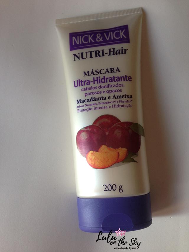 Nick&Vick Nutri-Hair Máscara Ultra Hidratante Macadâmia e Ameixa