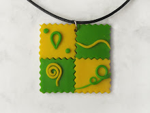 Polymer clay pendant by WindySunset