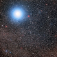 The sky around Alpha Centauri and Proxima Centauri